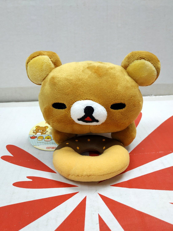 Japan San-X Rilakkuma Cafe Relax Bear Plush Doll figures toys