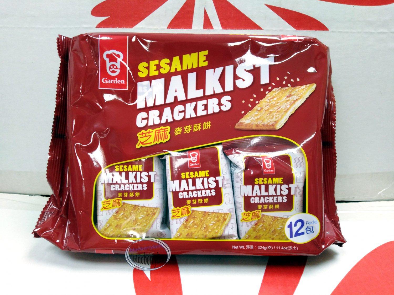 Garden MALKIST Sesame Flavor Crackers 324g Cookie Biscuits Snacks Sweets school work cookies
