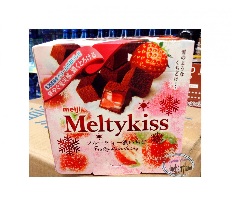 Japan Meiji Meltykiss Melty Kiss Fruity Strawberry Chocolate choco ladies kid sweets snacks treats