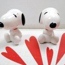 2 x Snoopy Collectible Figure Figurine girls birthday Christmas gift set