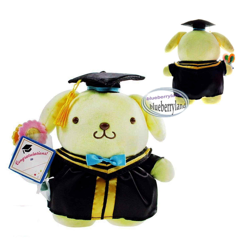 Sanrio Pompompurin 30cm Tall Plush Doll figure Graduation GIFT school university girls