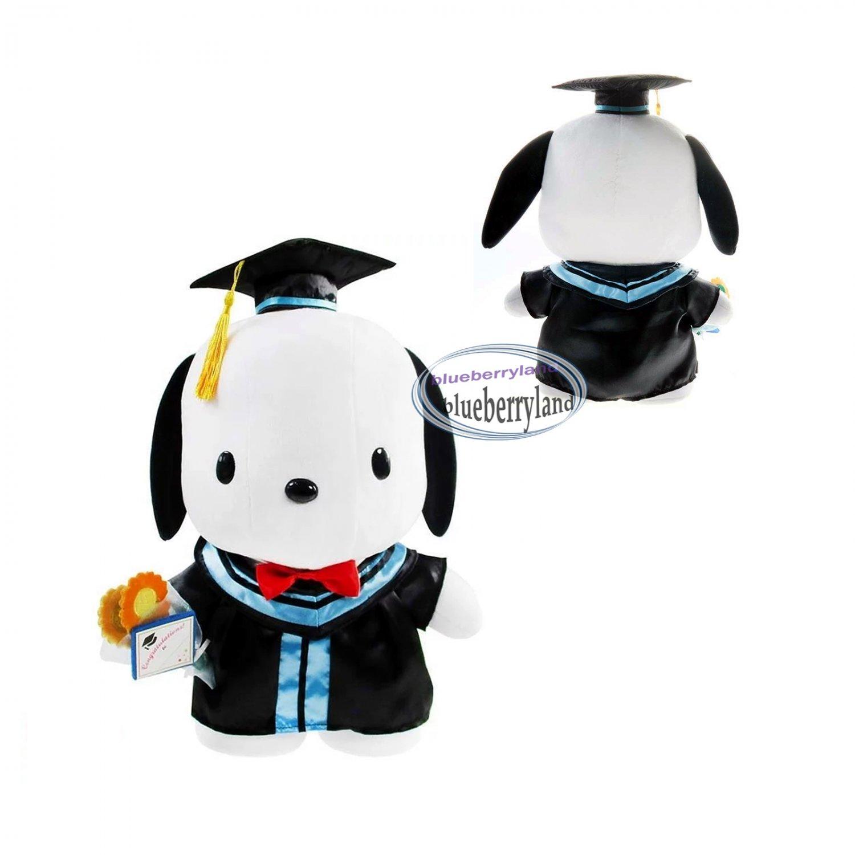 Sanrio Pochacco PC Dog 30cm Tall Plush Doll figure Graduation GIFT school university girls