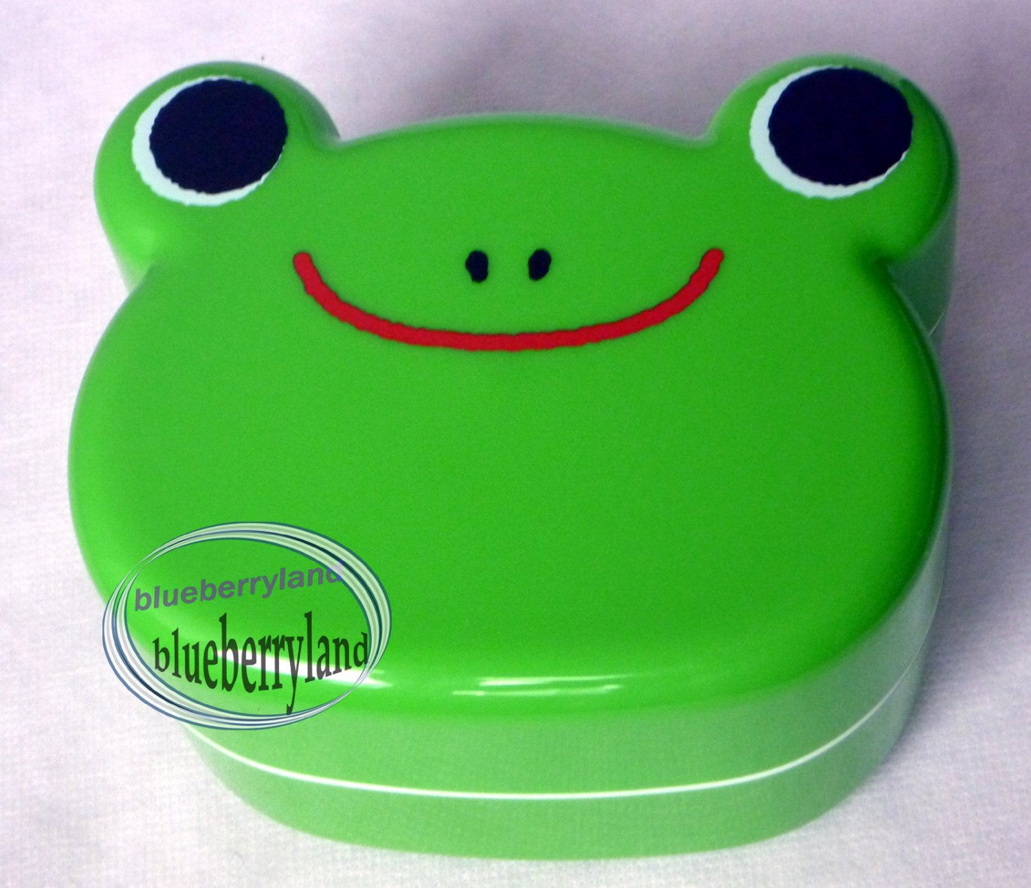 Japan Bento Lunchbox FROG lunch box with cutlery set