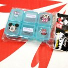 Disney Mickey & Minnie Mouse Pill Box Case holder dispenser Medication Organizer Blue