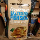 Golden Duck Gourmet Salted Egg Fish Skin Crunchy Crisps 125g 新加坡金鴨 鹹蛋炸魚皮