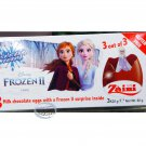 Zaini Disney FROZEN II Chocolate Surprise 3 Eggs With Toy Figure Inside choco ladies kid New