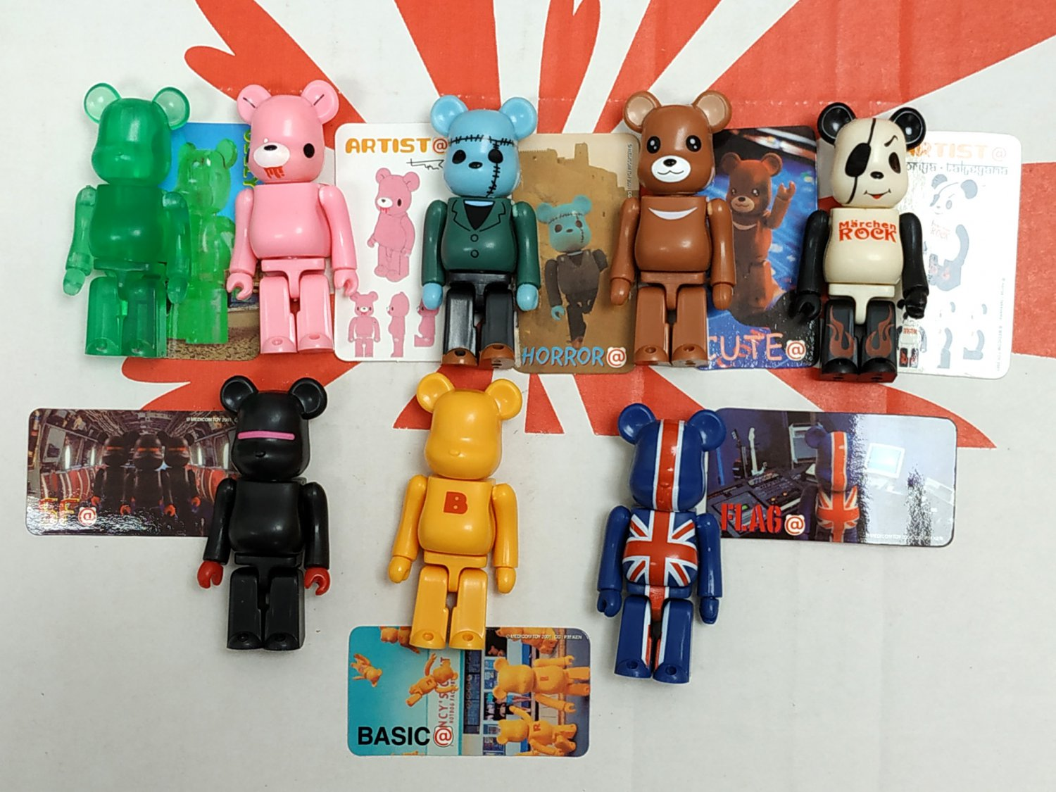 Medicom Toy 2001 Be@rbrick 100% Bearbrick Series 2 Action Figure S2 8 Pcs Set collectible