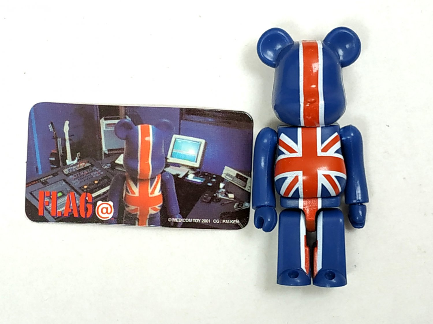 Medicom Toy 2001 Be@rbrick 100% Bearbrick Series 2 Flag Action Figure S2 collectible
