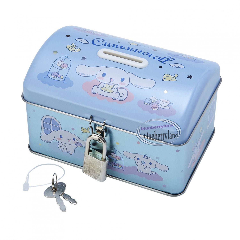 Sanrio Cinnamoroll Piggy Bank Metal Cash Box with Lock & Key gift girls ladies