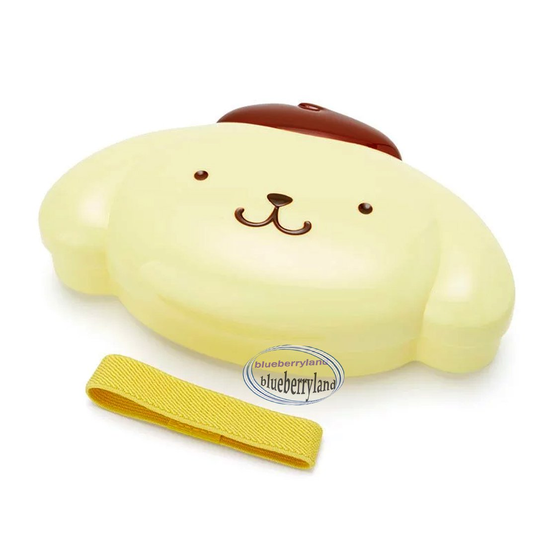 Sanrio Pompompurin Bento Lunchbox Food Container with Belt  Hello Kitty