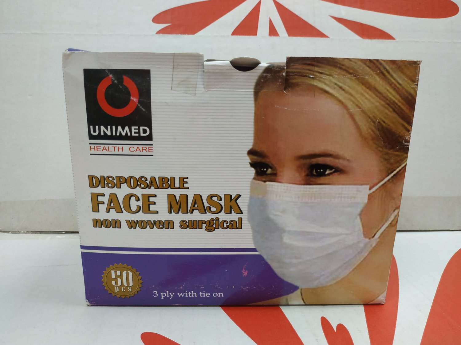 UNIMED Disposable Face Mask non woven surgical Masks health care 50 pieces adult children