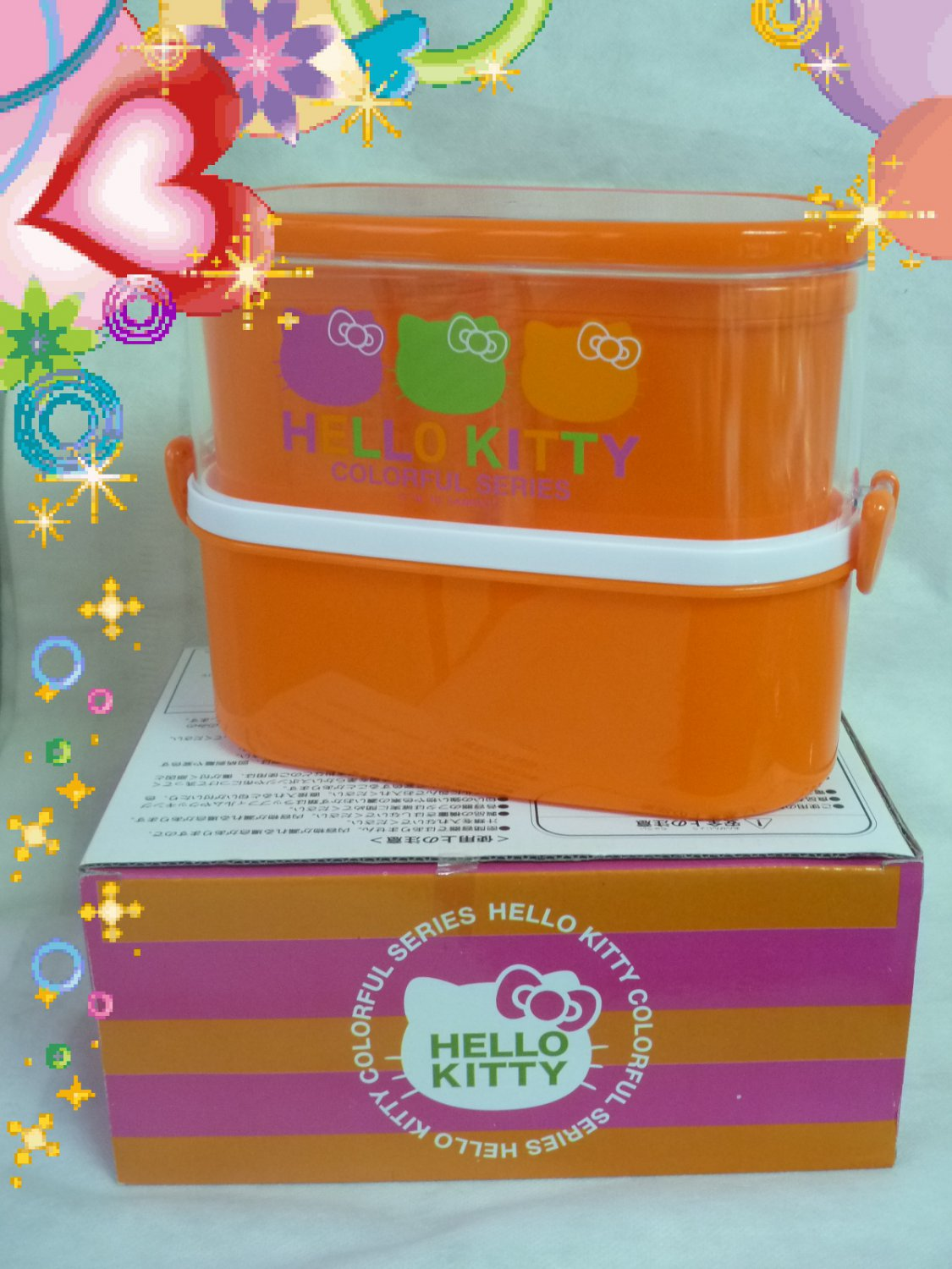 Sanrio Hello Kitty Bento Lunchbox Food Container set spoon fork case OC1