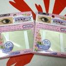 Japanese Makeup Double Eyelid Adhesive Tape Regular Type Eye make up eyelash 20 Pcs x 2 Packs