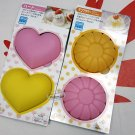 Japan SILICONE Mold 4pc set cake mould jelly pudding muffin sweets treats maker ladies kitchen