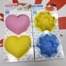 SILICONE Mold 4pc set cake mould jelly pudding muffin sweets treats baking ladies kitchen W