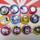 Sanrio Hello Kitty collectible Pins Badge 12 pieces set Pin buttons girls ladies