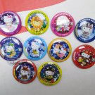 Sanrio Hello Kitty collectible Pins Badge 10 pieces set Pin buttons girls ladies