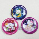 Sanrio Hello Kitty collectible Pins Badge 3 pieces set Pin buttons girls ladies