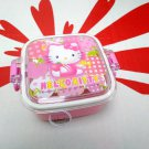 Sanrio Hello Kitty Square Plastic Box FOOD STORAGE CONTAINER case school kids girls ladies B