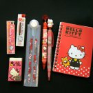 Sanrio HELLO KITTY Stationery 7p set notebook pen pencil eraser back to school A