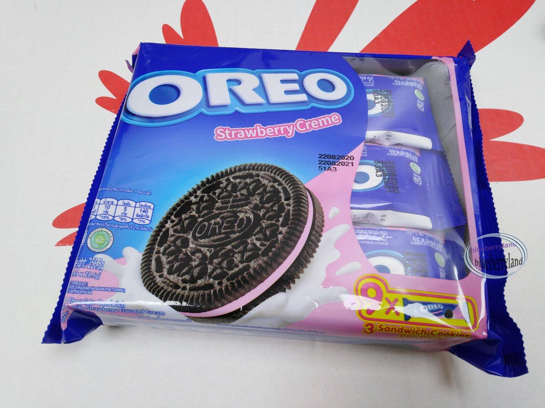 Oreo Strawberry cream flavor Sandwich cookie Biscuit packs cookies kids ladies school