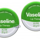 2 pcs Vaseline Lip Therapy Aloe lips tin heal dry lips natural Balm ladies lip care beauty