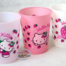 3 Pcs Sanrio Hello Kitty Strawberry Print Plastic Cups Drinking Mug / Cup Kids parties