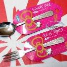 Japan Sanrio Hello Kitty Dessert Fork & Spoon set kitchen Cutlery home