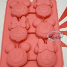 Disney MICKEY & MINNIE MOUSE SILICONE Mold Food Cake Mould pudding jello chocolate jelly ice cube