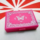 Japan Butterfly Pattern False Eyelash Case with Tray & Mirror ladies girls makeup accessories