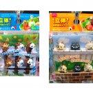 Party supply Bento Obento accessories 6 Pcs x2 Bear & Monkey and Cat Food Picks kids