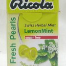 Ricola Swiss Herbal Sugar-free Mint Lemon Pearls Candy 2 boxes Candies snack sweet