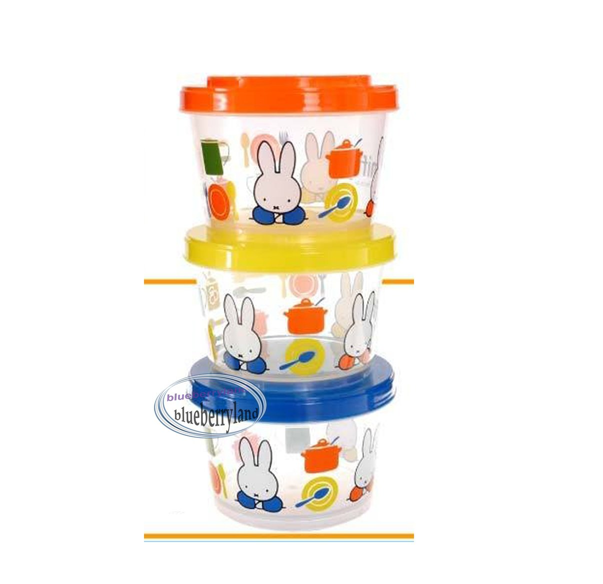 Miffy Food Storage Box lunch snacks 3 pcs container case bento Melanie side dish cases