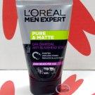 L'oreal Paris Men Expert PURE & MATTE Charcoal Black Scrub 100ml Deep skin care face wash cleanser