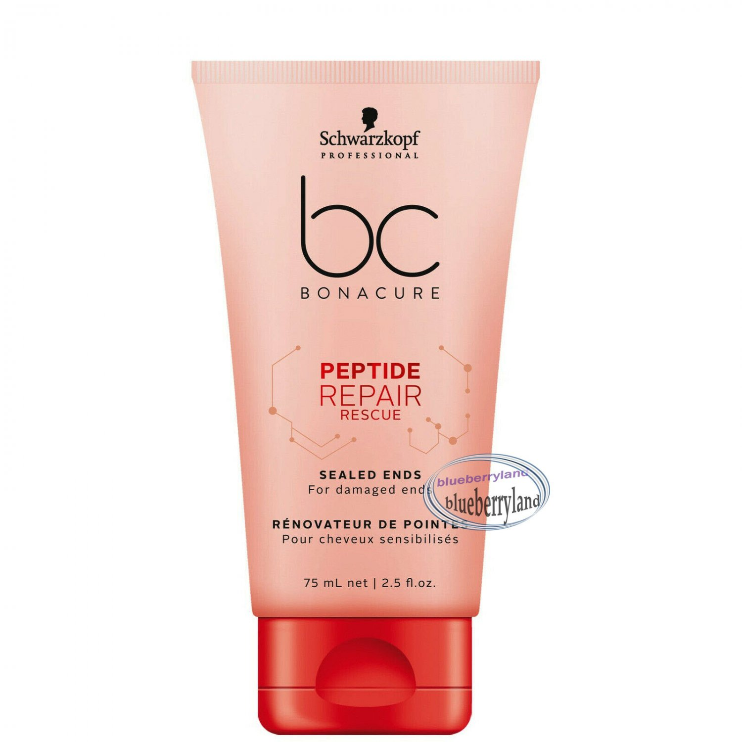 Schwarzkopf bc Bonacure Peptide Repair Rescue Sealed Ends 75ml Hair Styling care