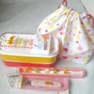 Japan Bento 2-Tier Lunchbox with Belt fork chopsticks & Bag Clapping March lunch box