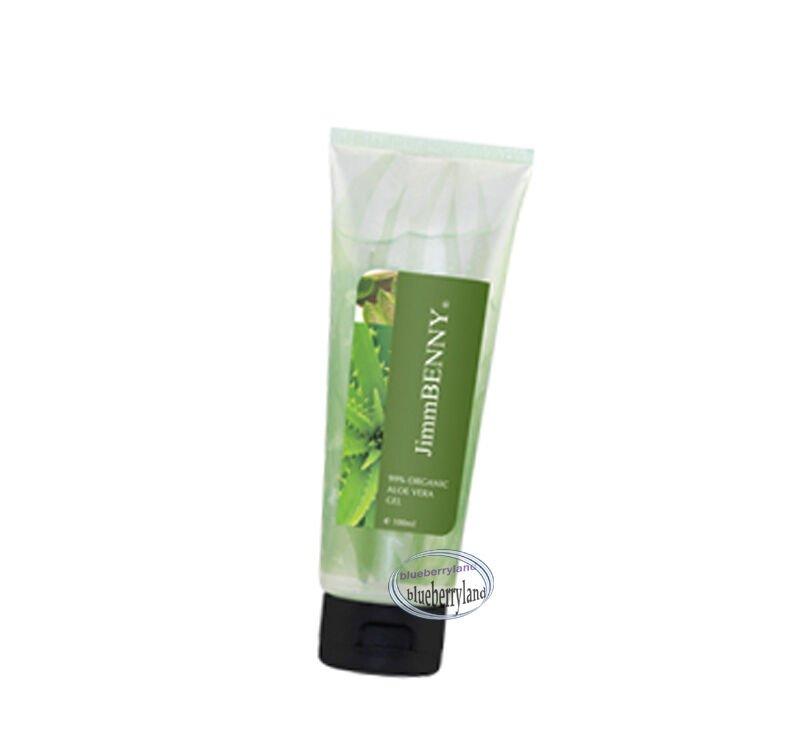 JimmBENNY 99% Organic Aloe Vera Gel 100ml restore dry damage burns KIT Health beauty skin care