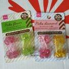 Party supply Food Picks 40pcs Diamond & Flower pick Bento Obento accessories set