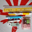 7 pieces Stationery Set Writing MIFFY Pencil Ball pen eraser ruler kit school office supply B