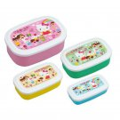 Sanrio Hello Kitty Microwavable Bento Lunchbox Food storage Container set of 4 school A