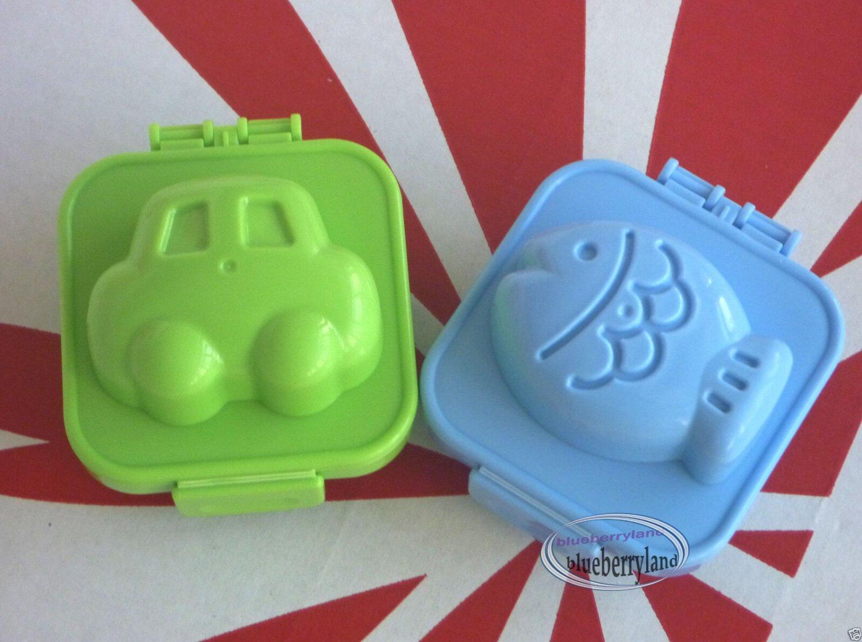 Bento Egg Mold YUDETAMA-GOKKO accessories Car fish Mould set kitchen lunchbox