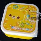 Happy Animal BEAR Plastic Food Container SQUARE Storage box Snack Case 3p set Bear kids boy school