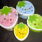 Strawberry Shaped Plastic Food Storage boxes set Bento Snack Lunch Box Salad Food Container