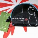 Hot Cat Club Coin purse bag cats coins case bags ladies girls wallet purses accessory Black