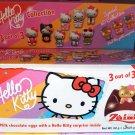 Zaini HELLO KITTY Chocolate Surprise 3 Eggs With Toy Figure Inside choco ladies kid RV23