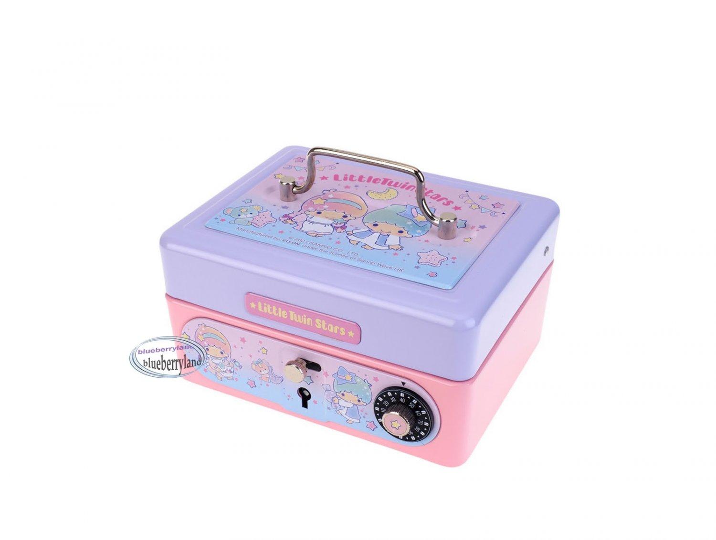 Sanrio Little Twin Stars Metal Cash Box with Dial Lock & Key Xmas gift girls ladies