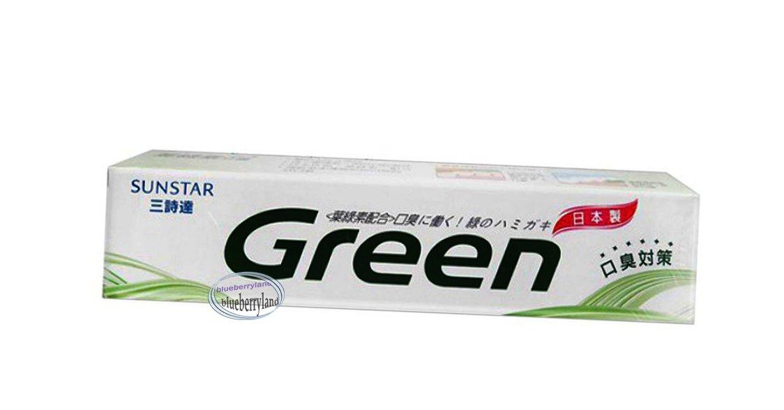 Japan SunStar GREEN Chlorophyll Toothpaste 160g �綠素��