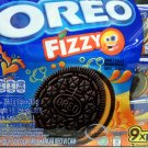 Oreo Fizzy Chocolate Cookies with Orange Flavour Cream & Candy Sandwich Cookie Biscuit