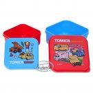Tomica Snack Box Food Container Plastic Case X 2 Pcs set SQUARE boxes boys ladies