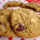 1/2 Dozen (6) Premium Homemade Oatmeal/Cranberry & White Chocolate Chip Cookies